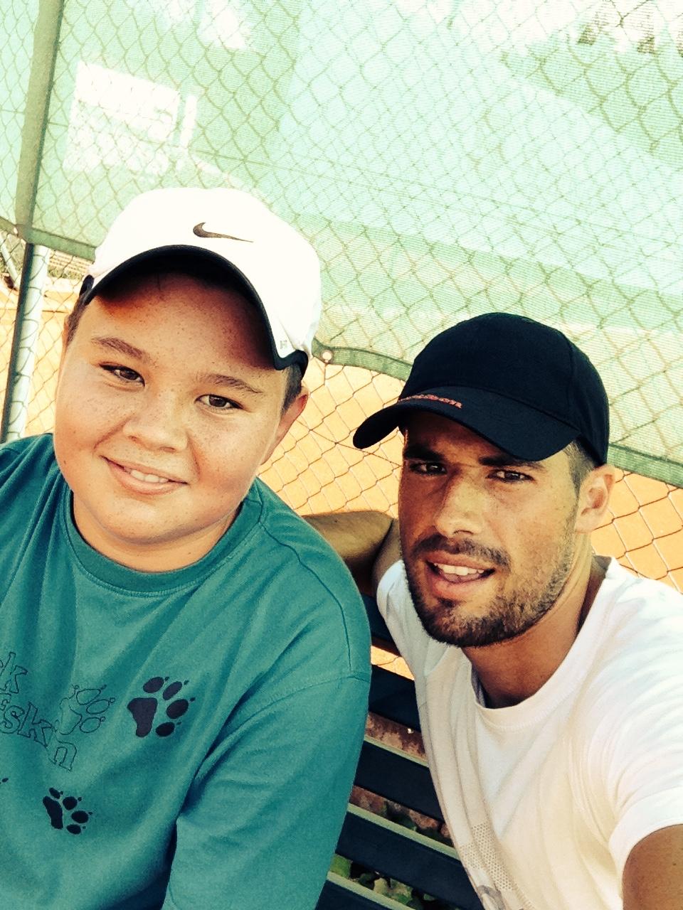 Trainer Markus mit Juniorenspieler Lukas